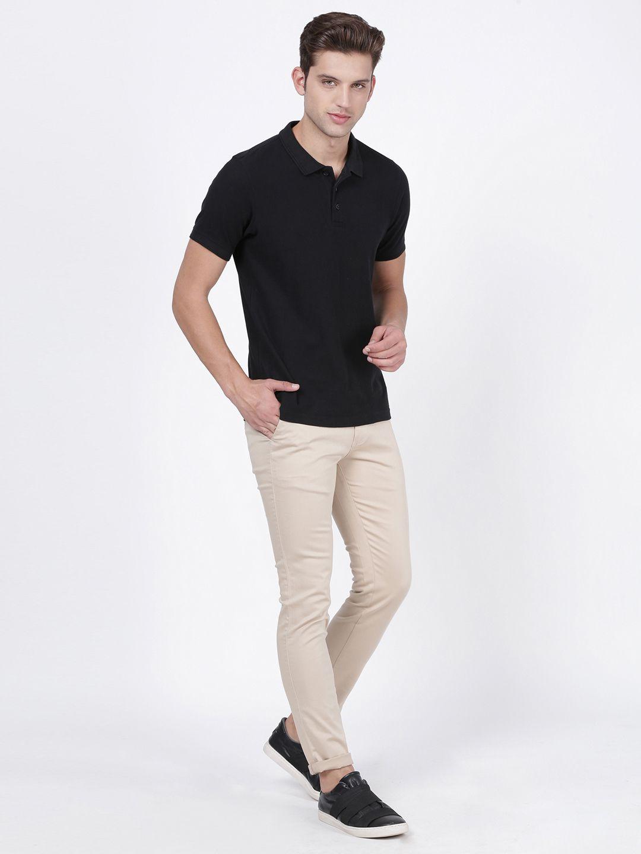 NO NEXT Beige Slim -Fit Trousers