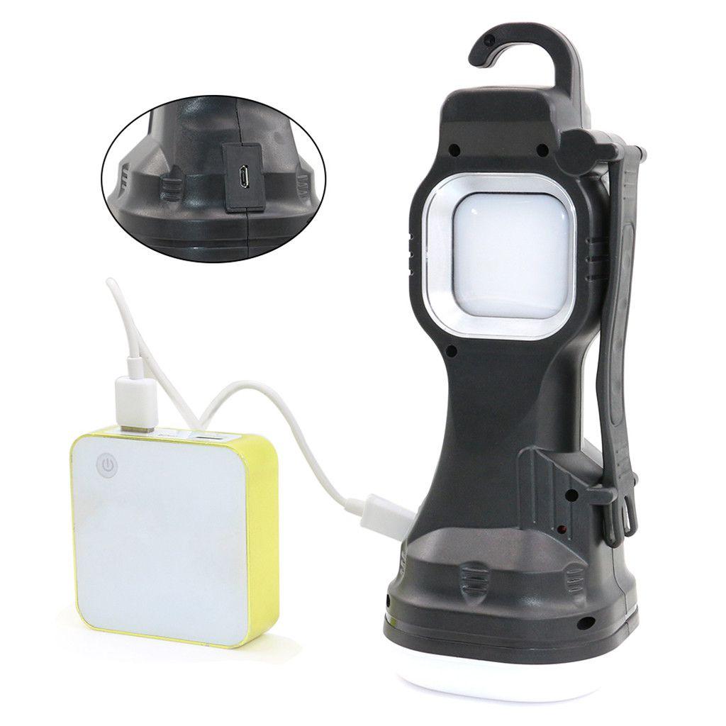 Portable 3W 300LM COB LED Solar USB Rechargeable Camping Light Lantern Tent Lamp