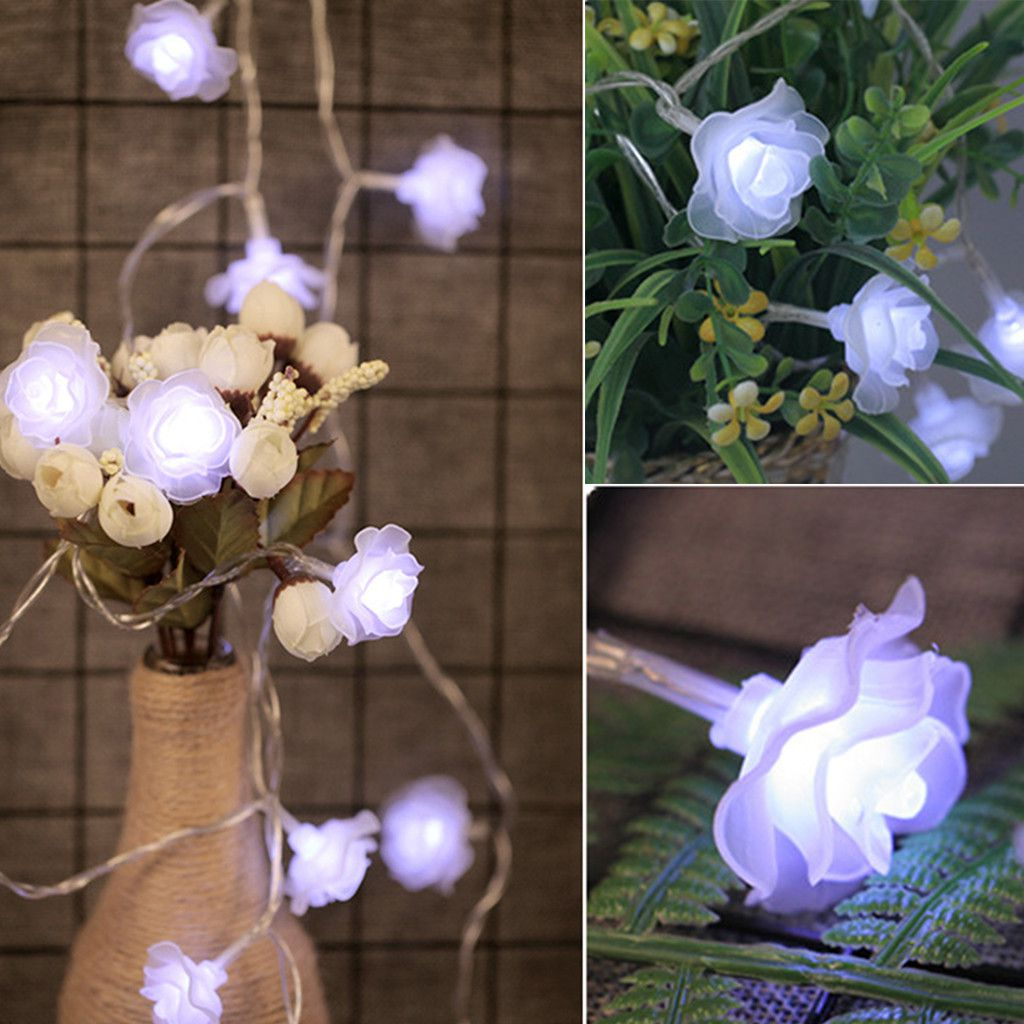 Rose Flower Garland String Light Fairy Wedding Party Decoration 2 5m 20 Led Buy Rose Flower Garland String Light Fairy Wedding Party Decoration 2 5m 20 Led At Best Price In India On Snapdeal