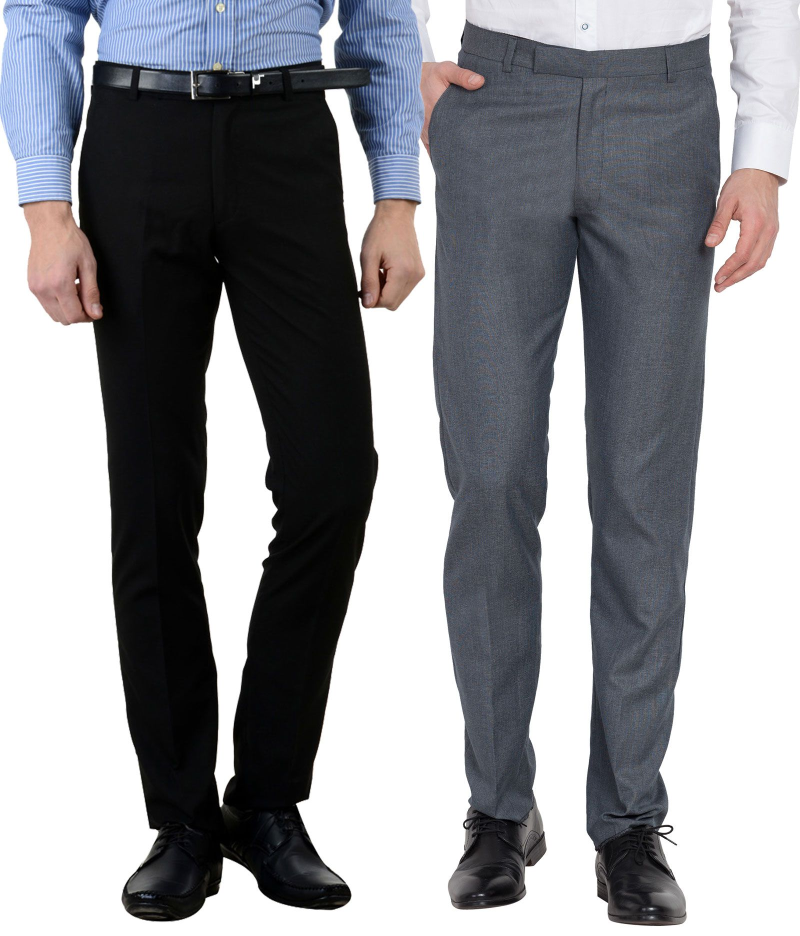 Cliths Multicolored Slim -Fit Flat Trousers