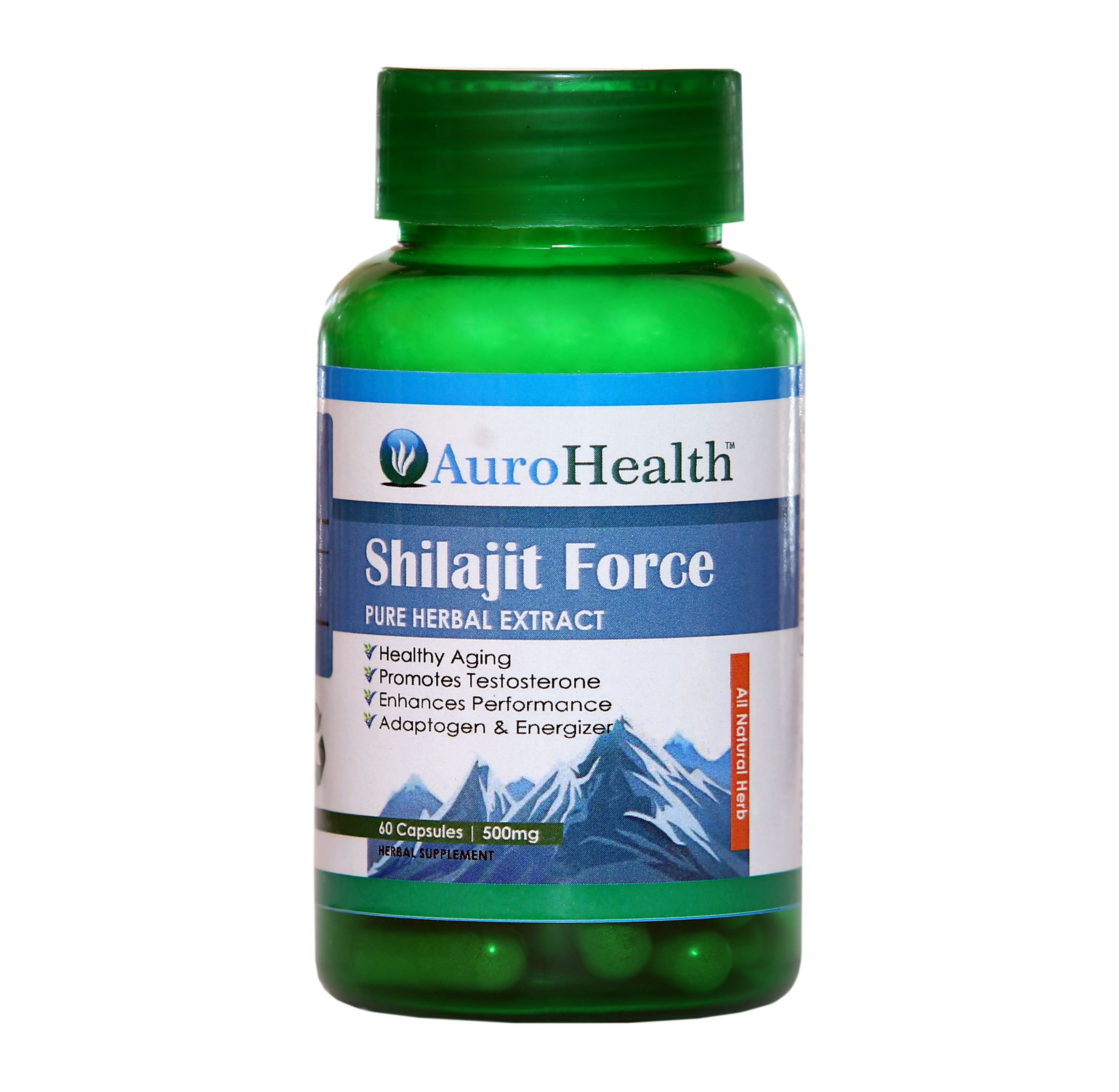 AuroHealth Shilajit Extract for Boosts The Body's Immunity and Weakness 60 no.s