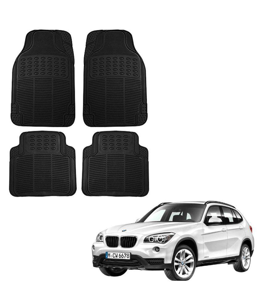 Auto Addict Car Simple Rubber Black Mats Set of 4Pcs For BMW X1