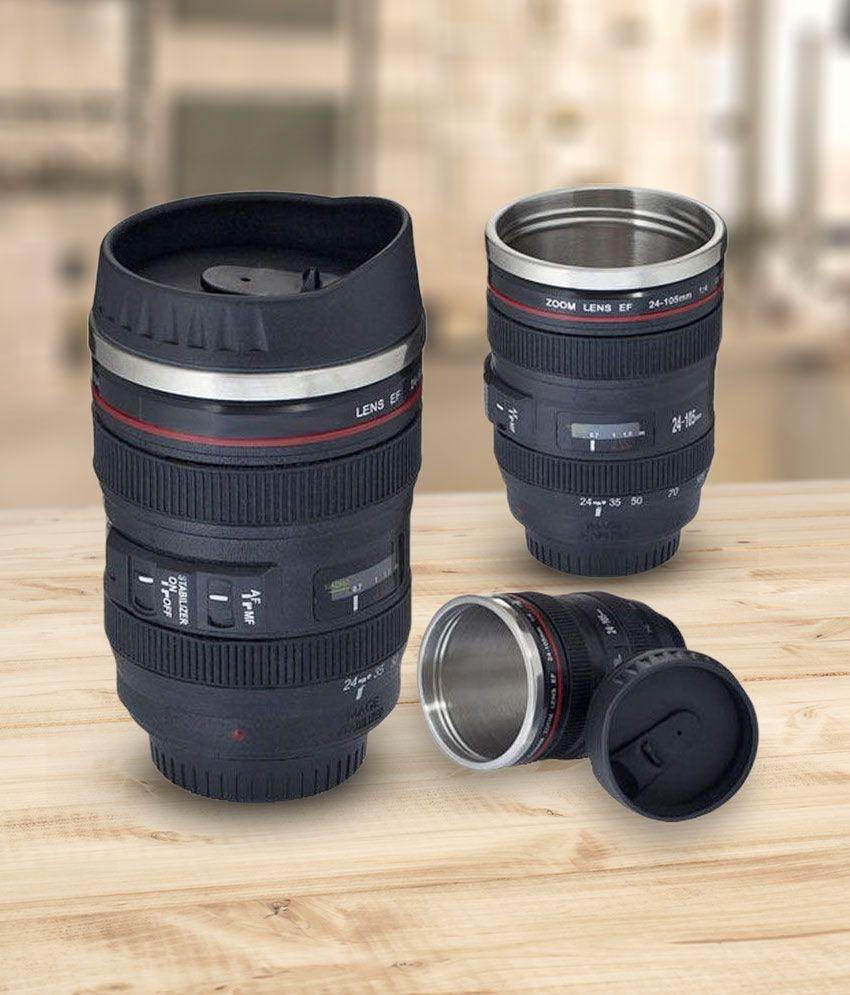Gadget Paradise Black Tea Coffee Mug / Camera Lens Shaped Birthday Gift