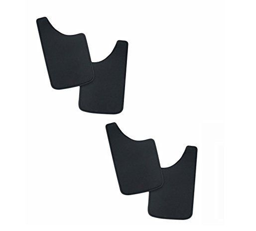 Carizo Car Rubber Mud Flap for Toyota Qualis (Set of 4)
