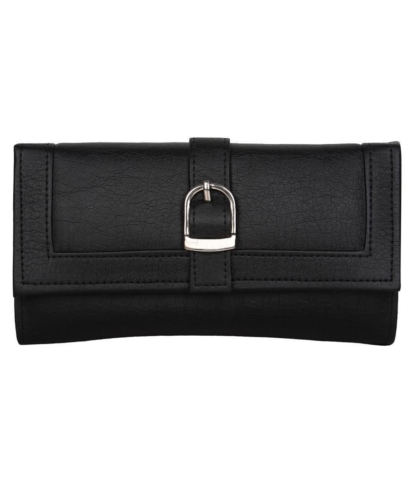 Evelyn Creation Black Pure Leather Handheld