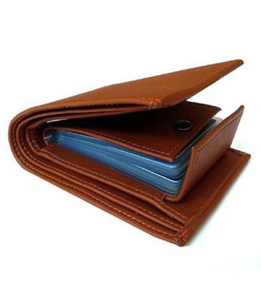 PRd PU Tan Casual regular Wallet