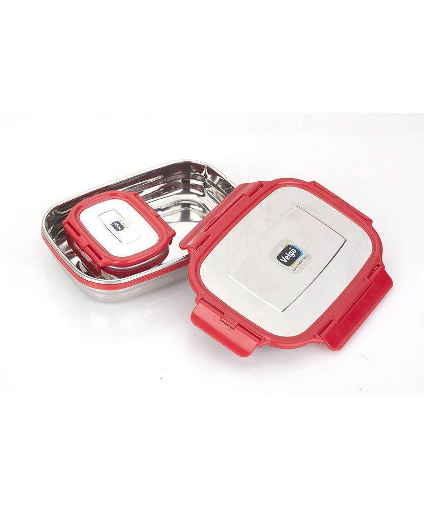 Veigo Red Stainless Steel Lunch Box