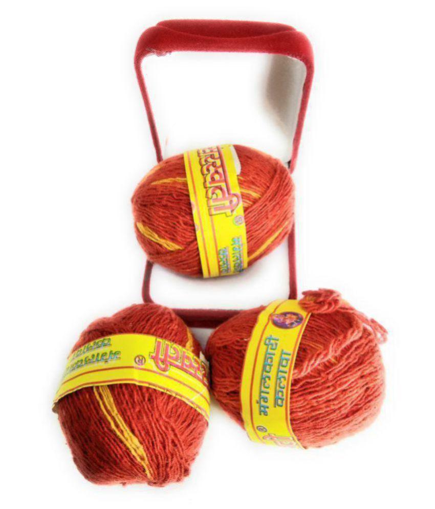 Apna Rudraksha Cotton Mouli Color Red (Set Of 3) Moli Kalawa, Moli Dhaga, Thread, Raksha Sutra, Pooja Mouli, Rakhi Puja Dhaaga Thread.