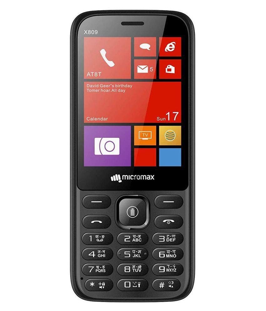 Micromax X809 DUAL SIM MOBILE Black