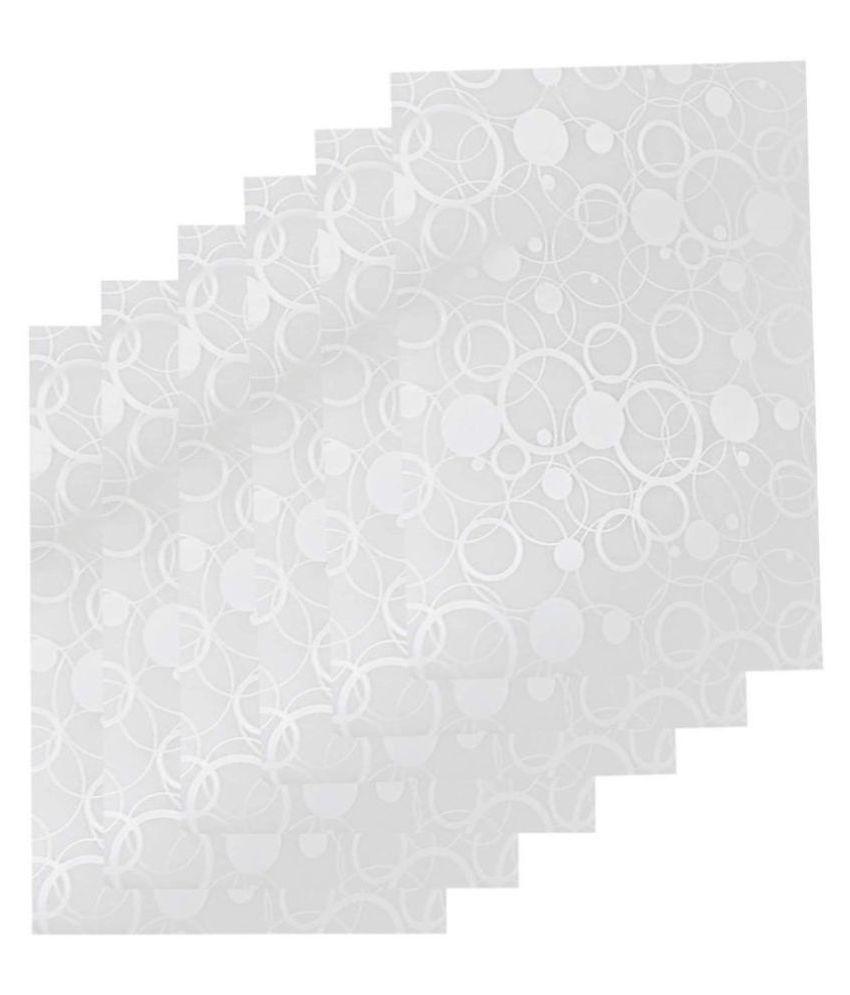 Khushi Creation Set of 6 Plastic White Fridge Mats