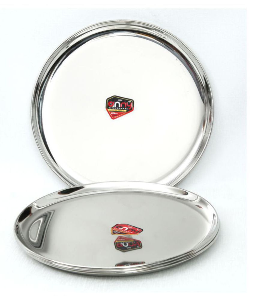 Anny Kitchenware 4 Pcs Stainless Steel Half Plate