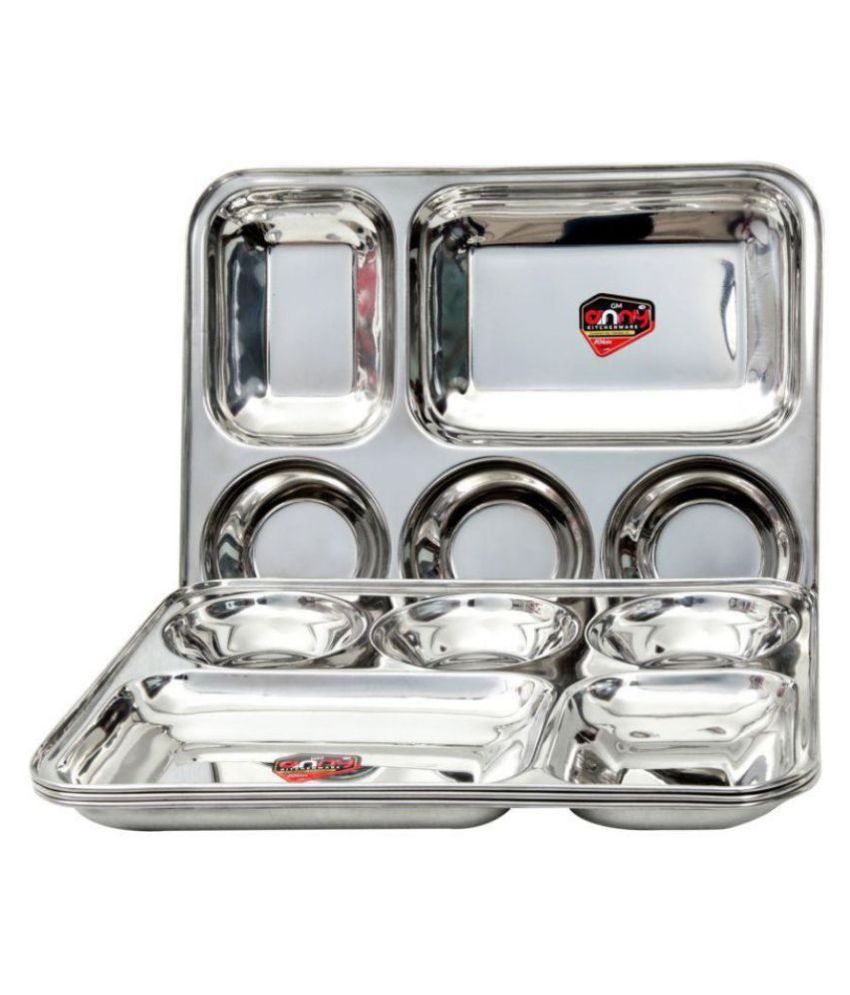 Anny Kitchenware 4 Pcs Stainless Steel Full Plate