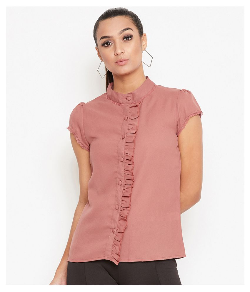 La Zoire Pink Georgette Shirt