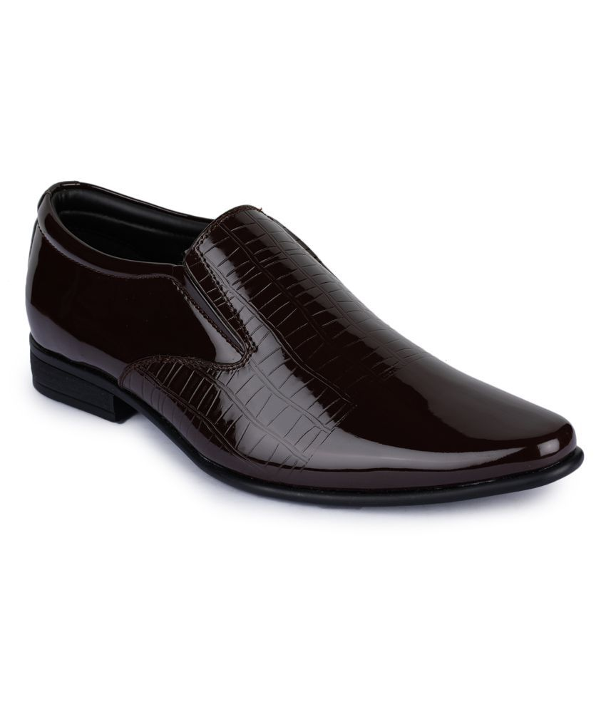 Liberty Slip On Artificial Leather Brown Formal Shoes