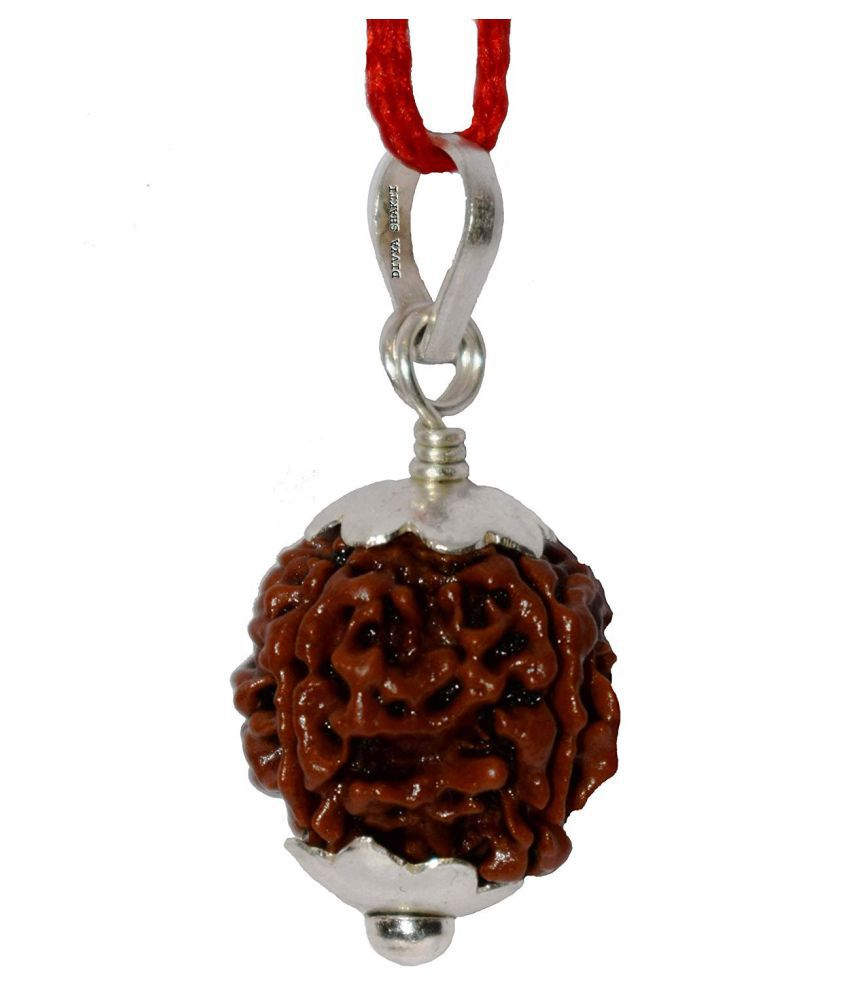 Nepali 4 Mukhi Rudraksha Pendant (Four Faced Rudraksh) 16 M.M