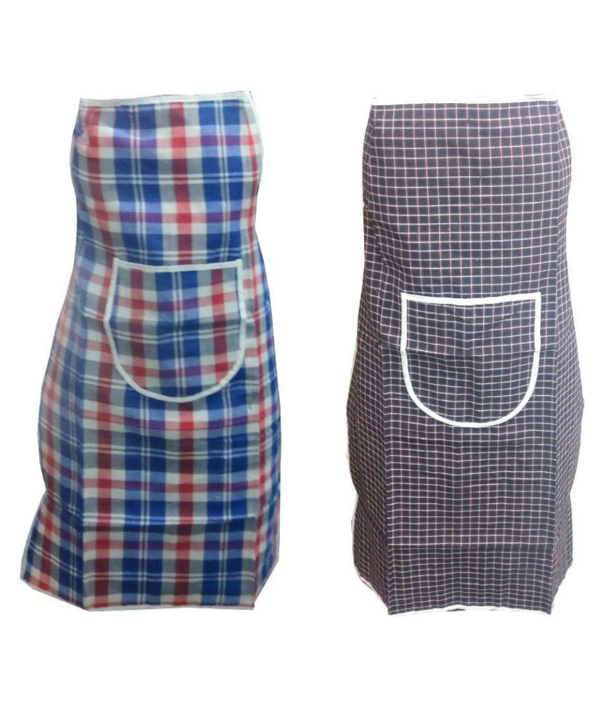 Khushi Creation Set of 2 PVC & Cotton Apron