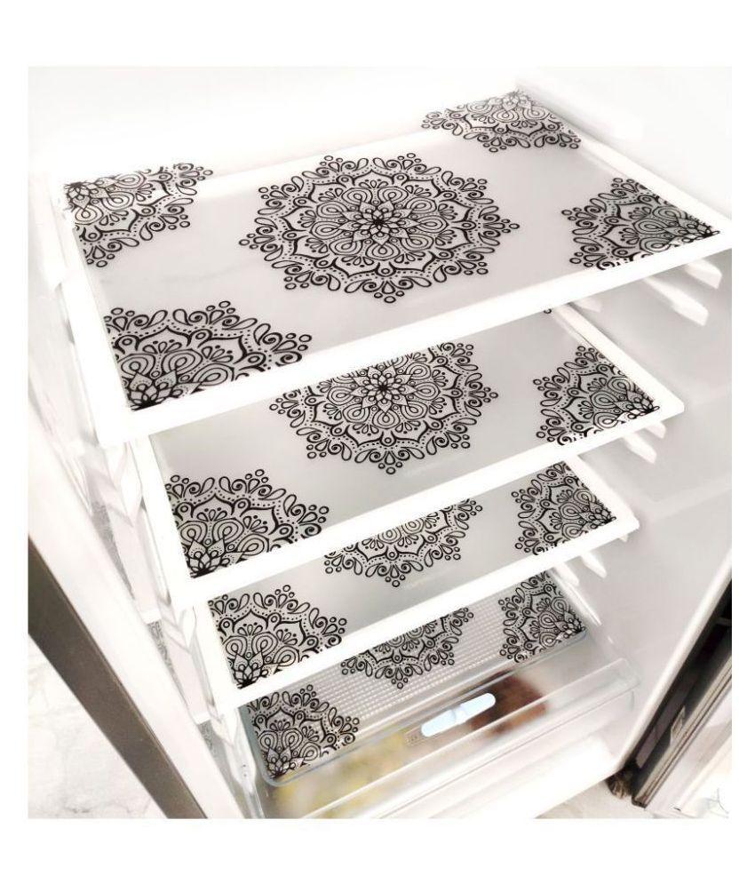 Khushi Creations Set of 4 PVC Transparent Fridge Mats