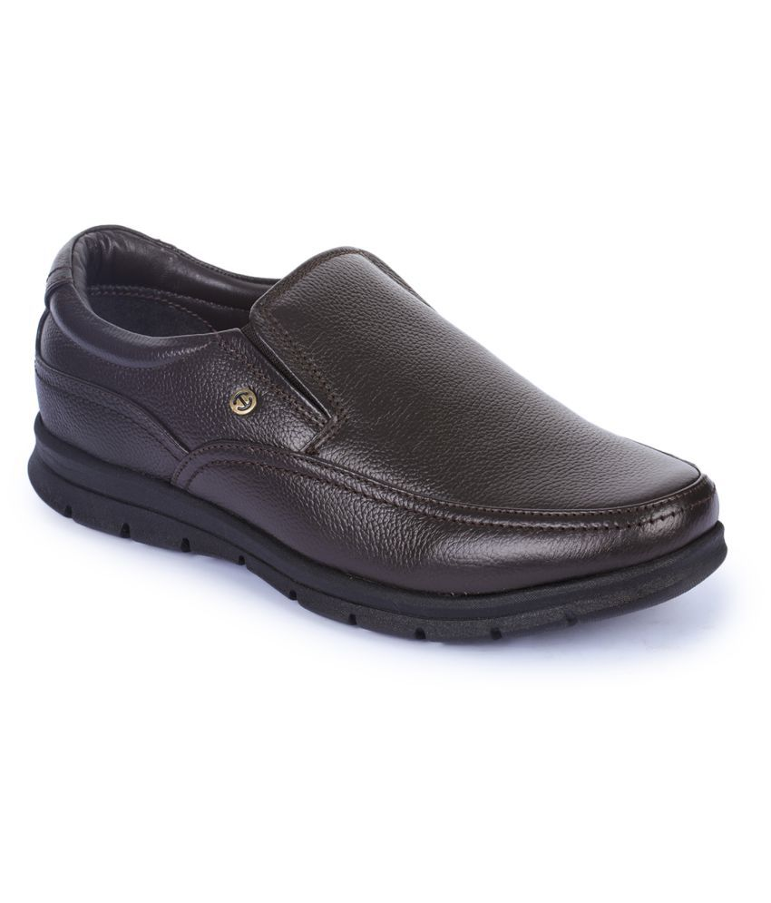 Liberty Slip On Genuine Leather Black Formal Shoes