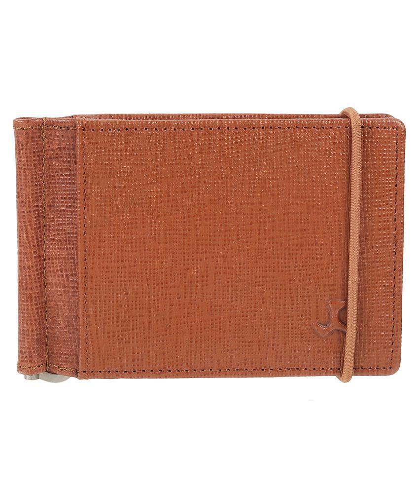 Mochi Leather Tan Formal Regular Wallet