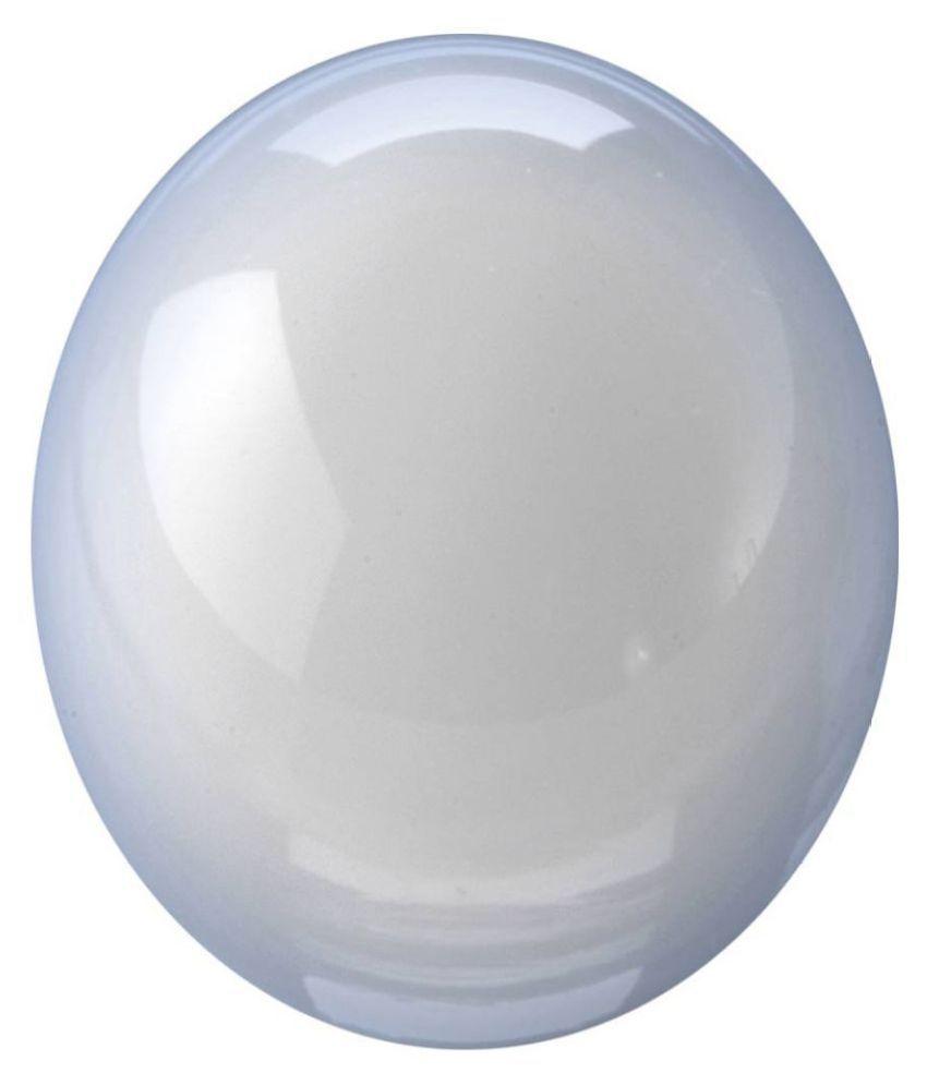 Tejvij And Sons 6.25 -Ratti Self certified Gray Moonstone Semi-precious Gemstone