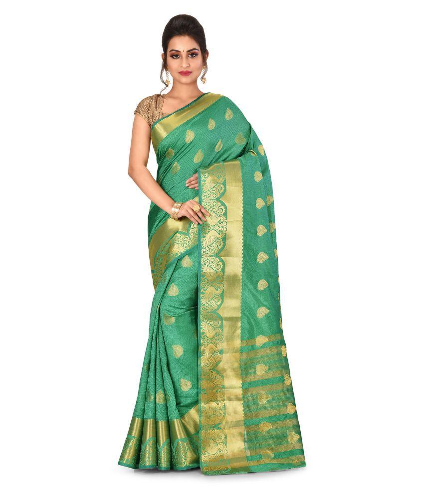 Radcart Green Art Silk Saree