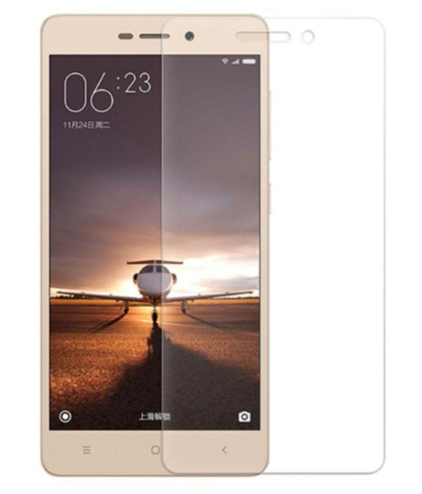 Xiaomi Redmi 3S Tempered Glass Screen Guard By lenmax UV Protection, Anti Reflection