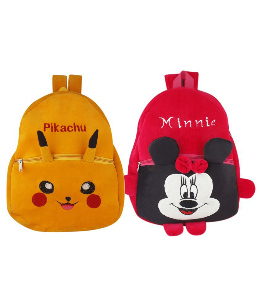 SSImpex Material School Bag for Kids Plush Backpack Cartoon Toy Children's Gifts Boy Girl Baby  Decor School Bag for Kids(Age 2 to 6 Year) Pack of 2
