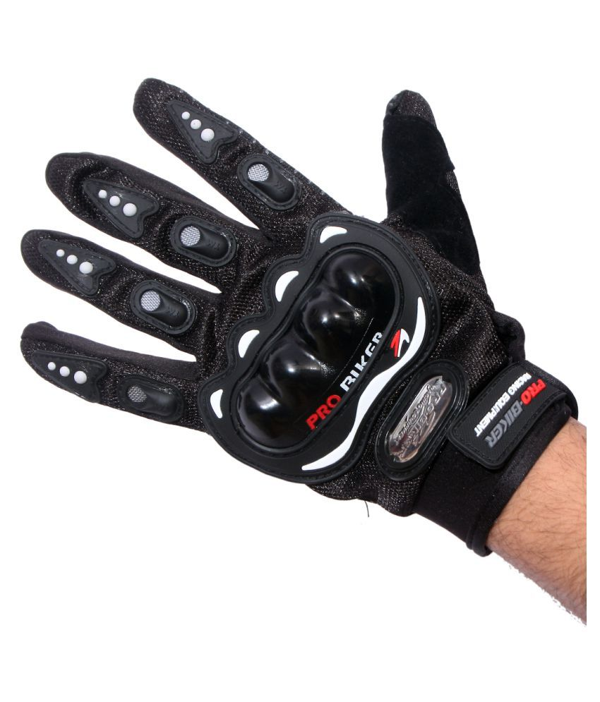 Probiker Black Carbon Fiber Full Hand Protective Gloves   For Motor Cycle/Bike/Moto Cross/Outdoor Sports Bicycle Cycling/Racing/Driving/Riding Full Finger