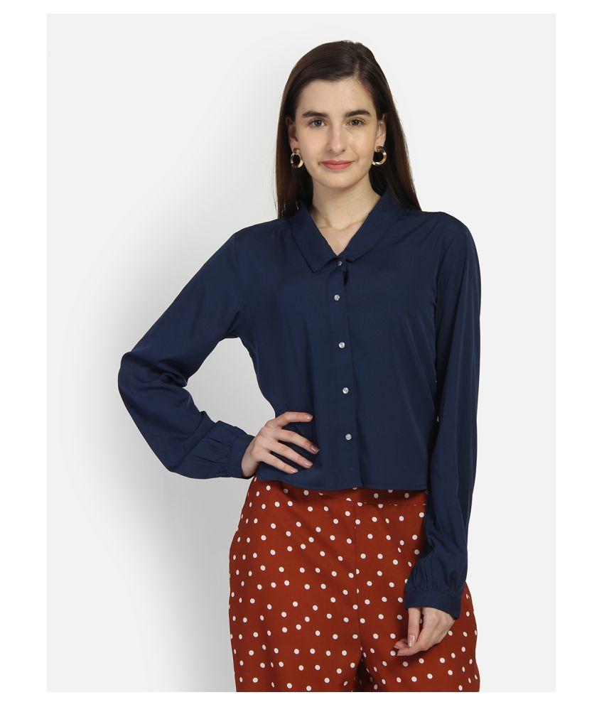 Yaadleen Blue Polyester Shirt