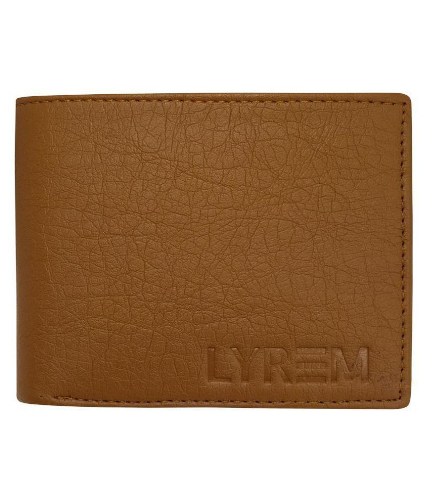 LYREM Faux Leather Tan Sport Regular Wallet