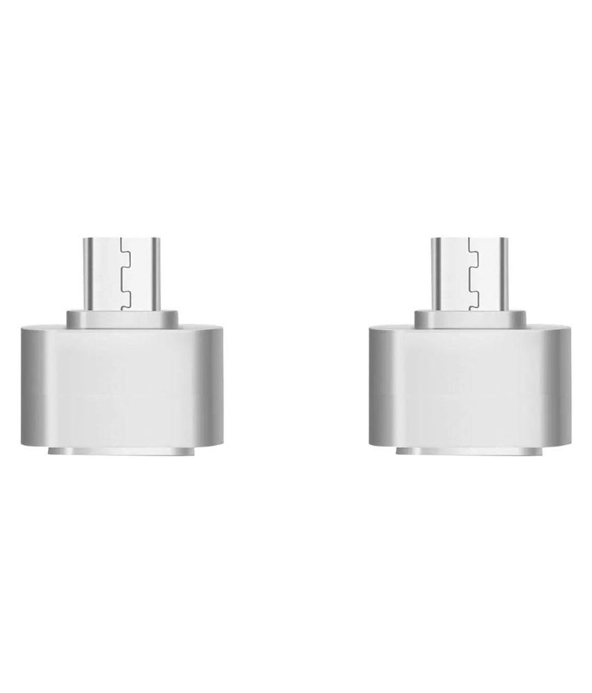 Micro USB OTG to USB 2.0 Adapter for Smartphones and Tablets (Pack of 2) By SANRIYO
