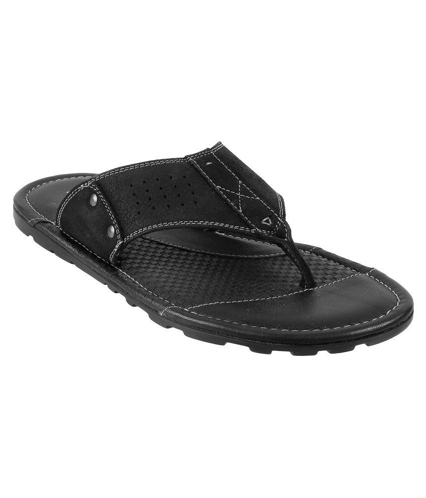 Metro Black Daily Slippers