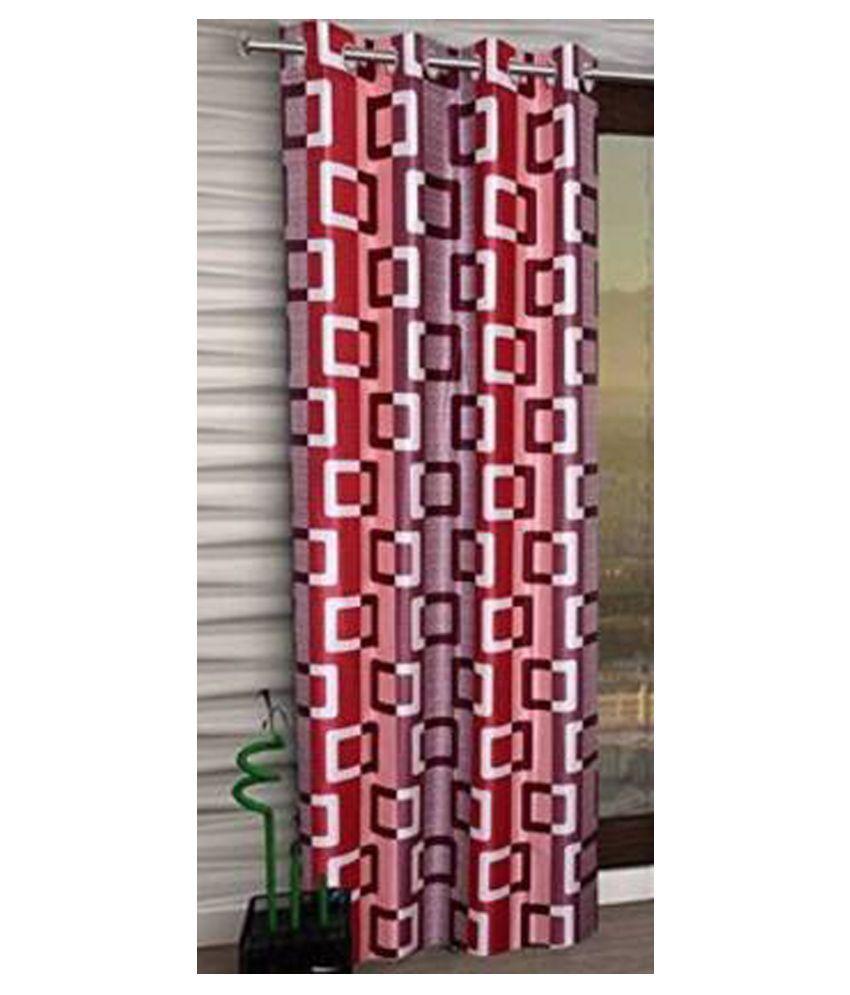 Zatchbell Single Window Semi-Transparent Eyelet Polyester Curtains Pink