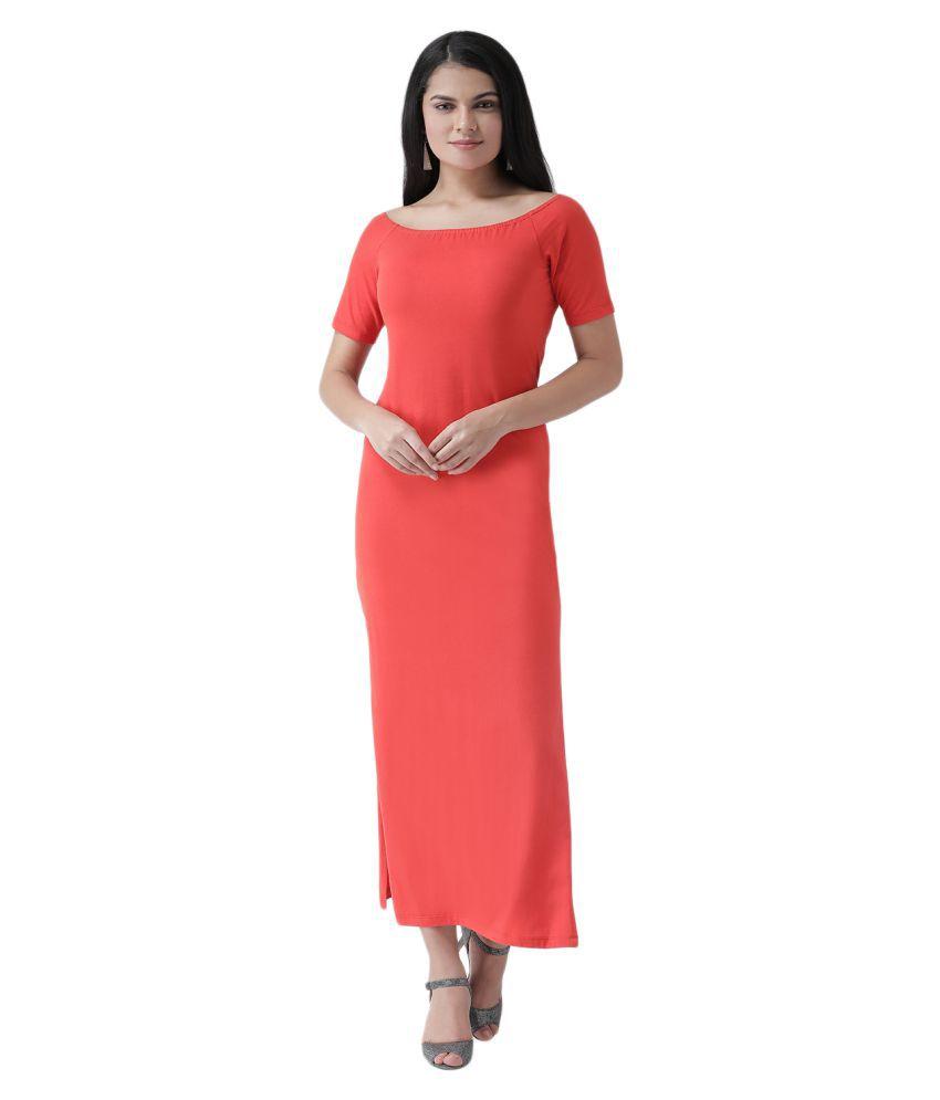 Texco Cotton Red Regular Dress