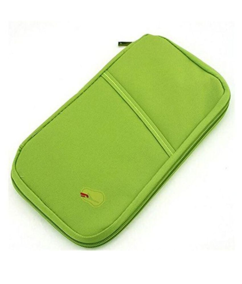 Everbuy Synthetic Green Passport Holder