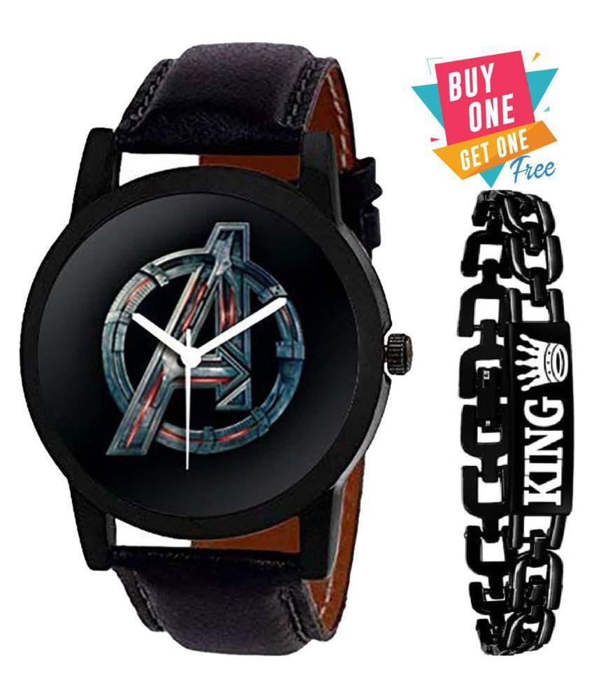 MECLUB ME-AK04 Avenger Leather Analog Men's Watch