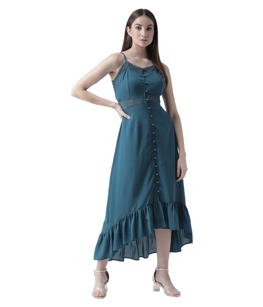 Texco Polyester Blue Regular Dress