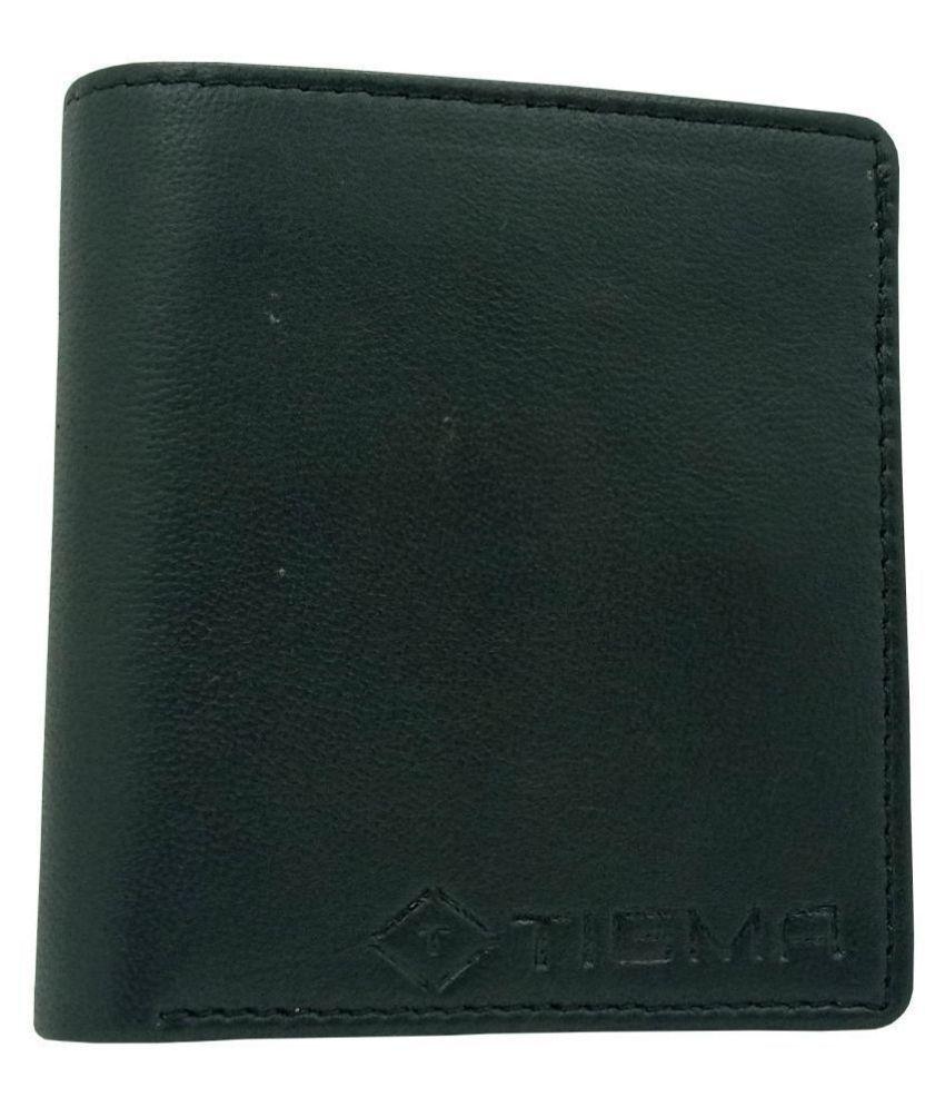 TIGMA Leather Black Casual Regular Wallet