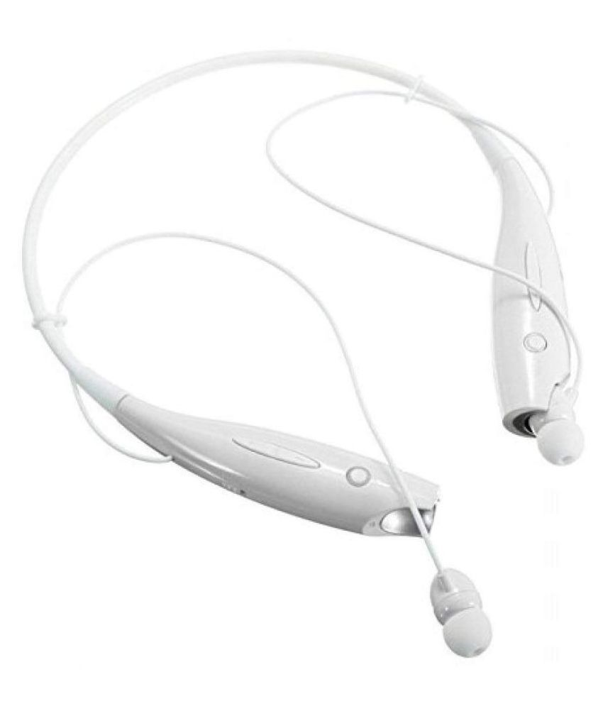 RBL 730 WHITE Neckband Wired With Mic Headphones/Earphones