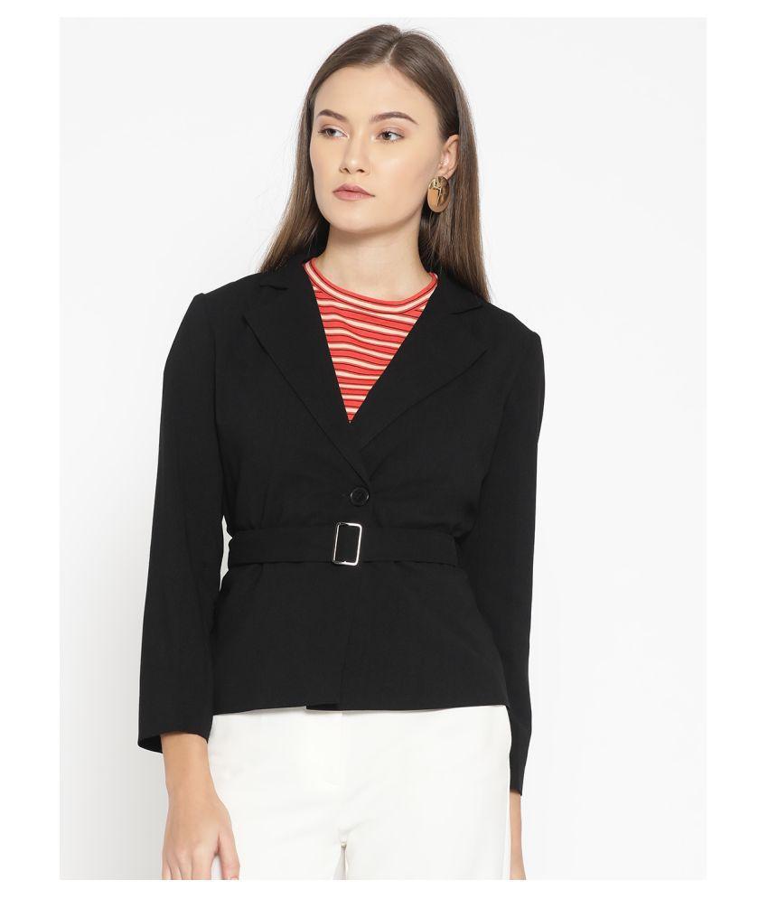 DODO & MOA Polyester Black Blazers