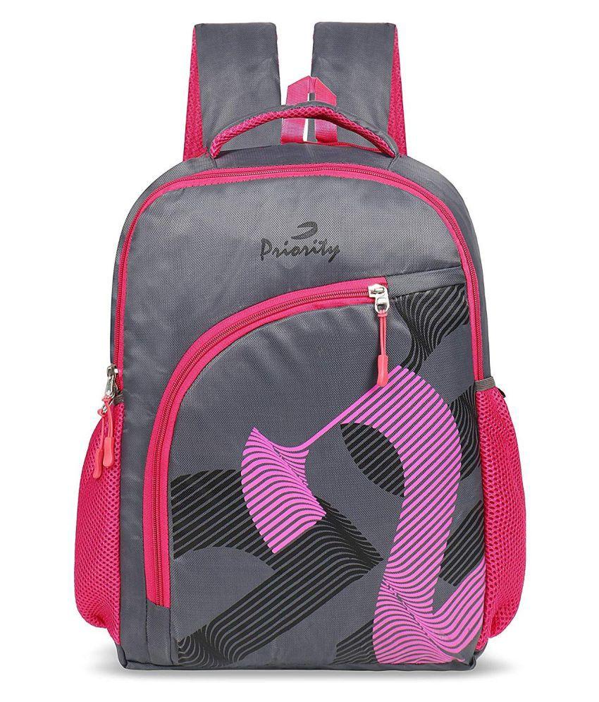 Priority Pink School Bag for Boys & Girls