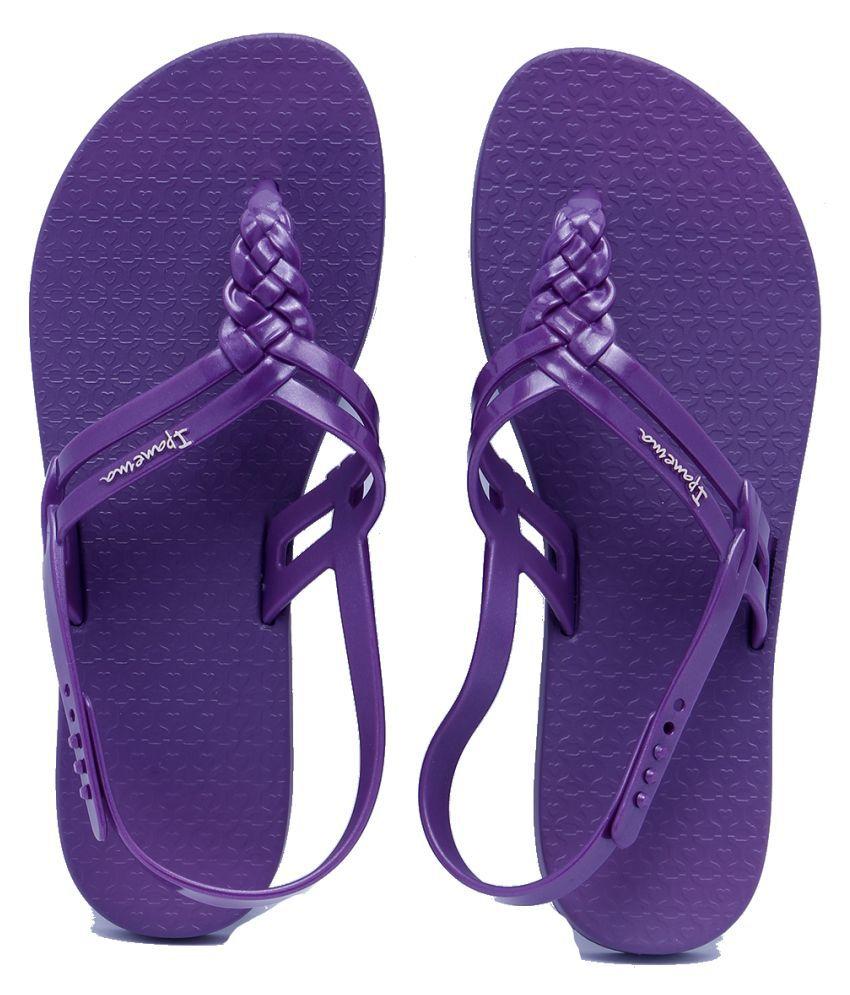 Ipanema Purple Slippers