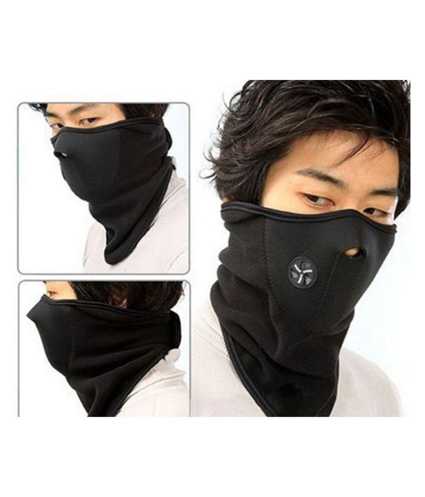 Neck Warmer Half Face Mask Anti Pollution Dust SUN Protection for Bikers  Cycling