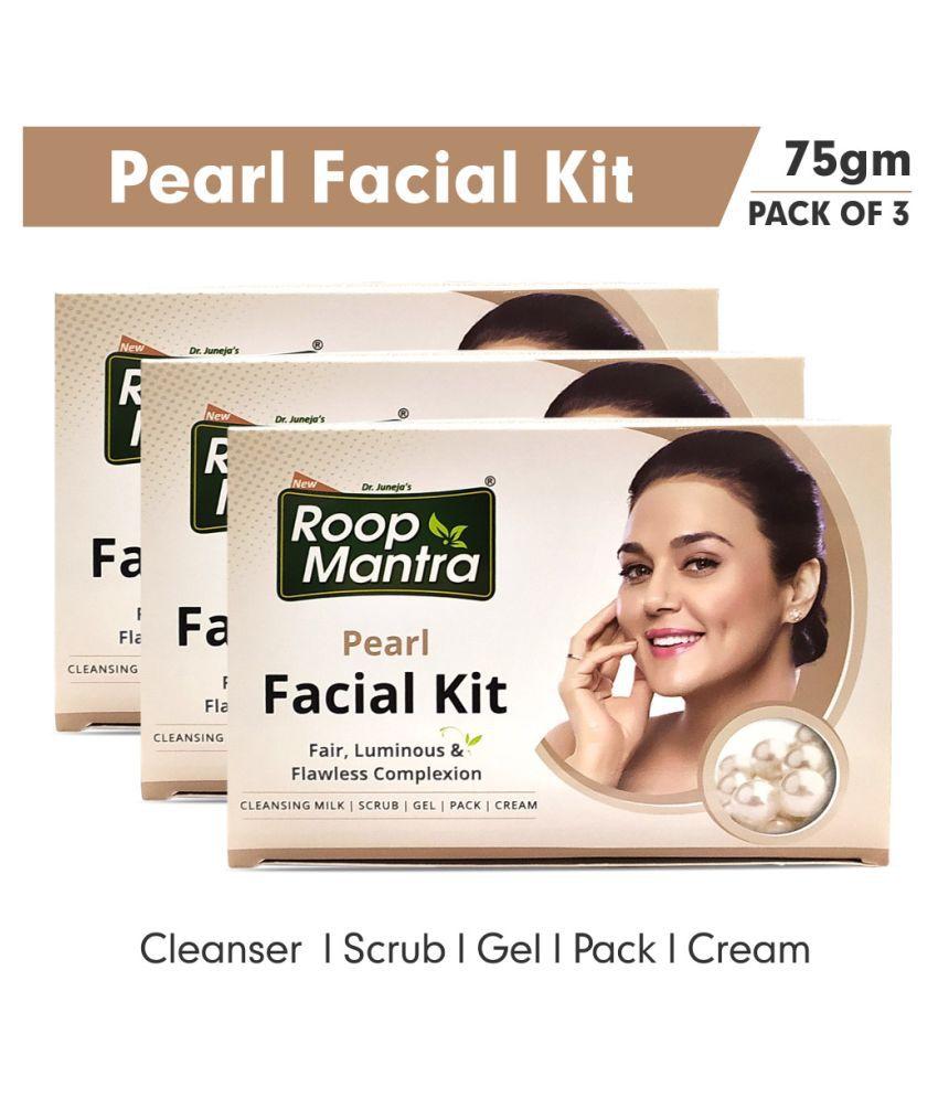 Roop Mantra Pearl Facial Kit 75 g Pack of 3