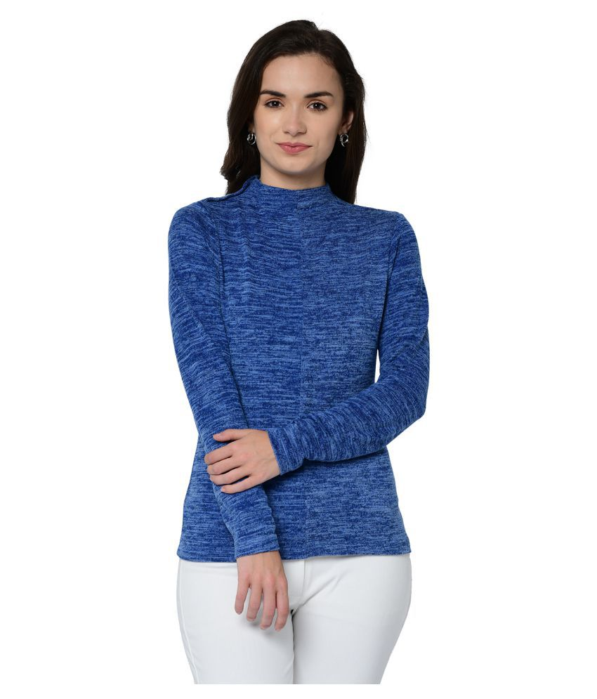 2Bme Polyester Blue Pullovers