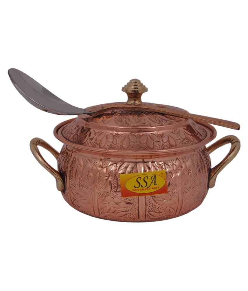 Shiv Shakti Arts Copper Mughlai Handi 1 Piece Cookware Set