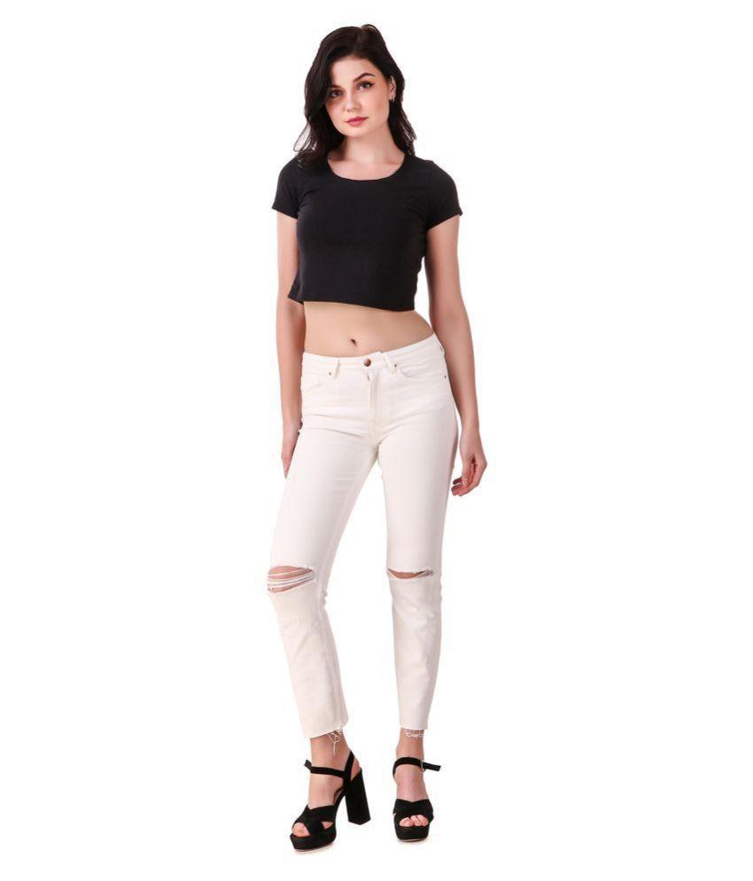 Cali Republic Denim Jeans - White