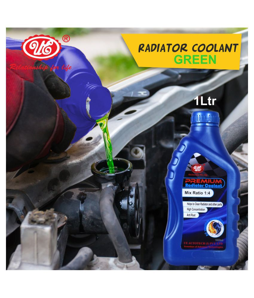 UE Premium Car Care Radiator Coolant Concentrate -1 Liter (Green) Car Accessories/Automotive Products