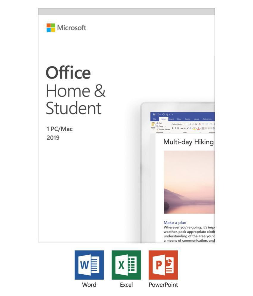 Microsoft Office 2019 Home  amp; Student For Mac Email Delivery