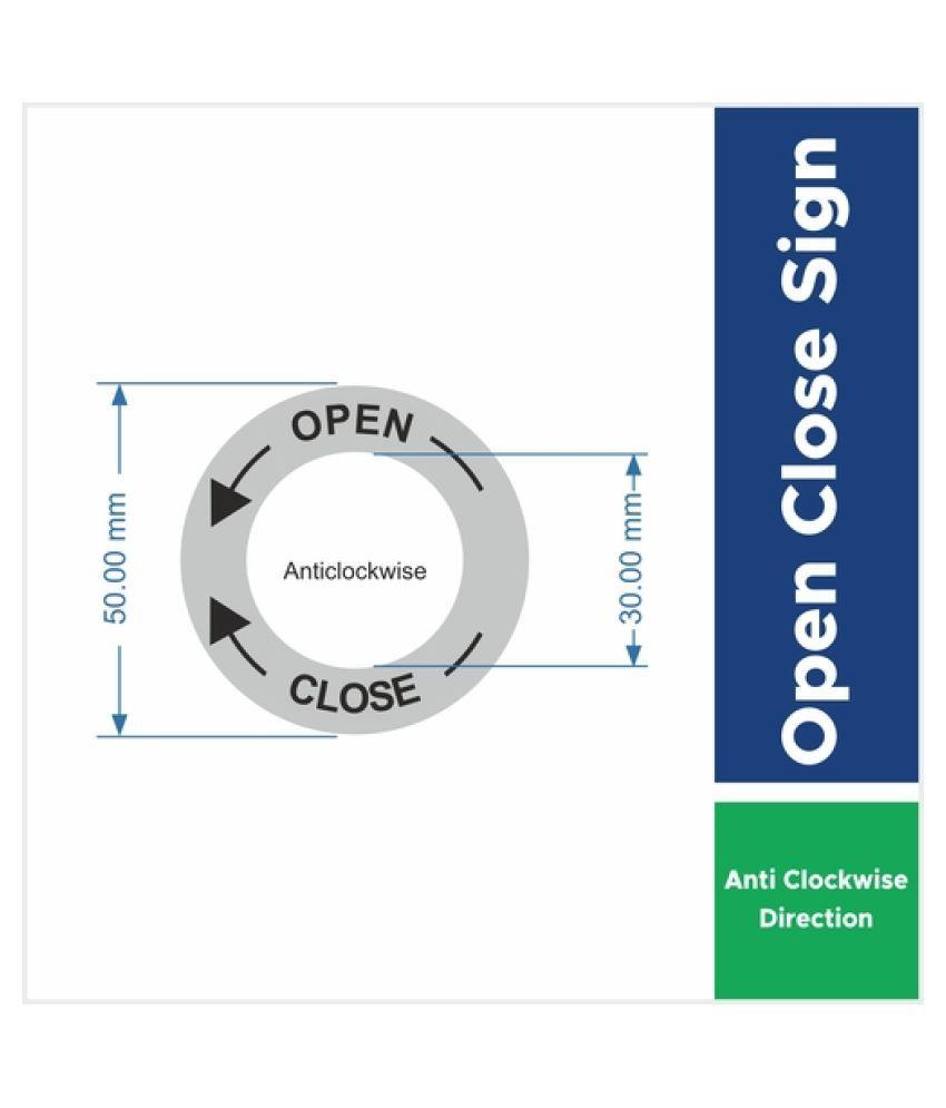 Open Close Anti-Clockwise Door Sticker (Pack of 10)